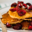 Cherry Cornmeal Pancakes